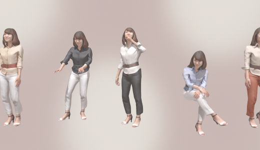 アニメーション用の3Dの人間を作っている最中で、もうすぐ発売です